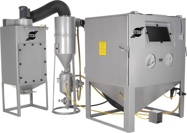 Industrial Blast Cabinets - Rugged, Made in USA - Titan Abrasive